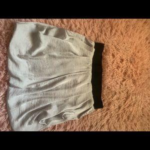 Charlotte Russe silver silky Skirt